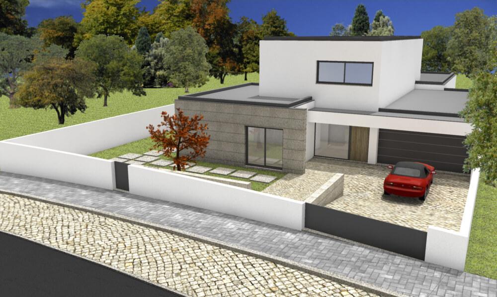 Projetos 3D Moradias Curvos