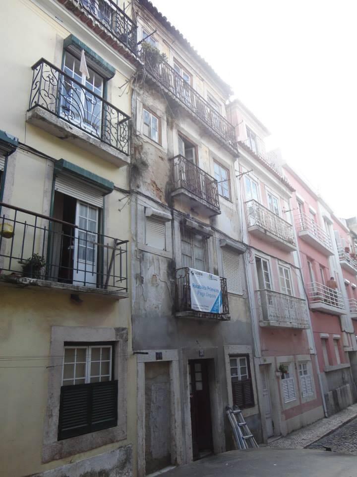 Obras em Lisboa, imagem da fachada do edifício