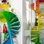 Escadas interiores creativas